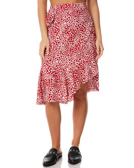 RED HEART WOMENS CLOTHING RUE STIIC SKIRTS - SW18-47RHRED
