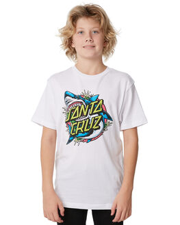 WHITE KIDS BOYS SANTA CRUZ TEES - SC-YTD7045WHT
