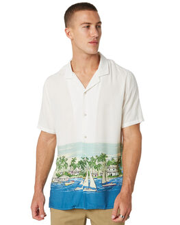 WHITE VACATION MENS CLOTHING BARNEY COOLS SHIRTS - 307-CC2-WHTVC