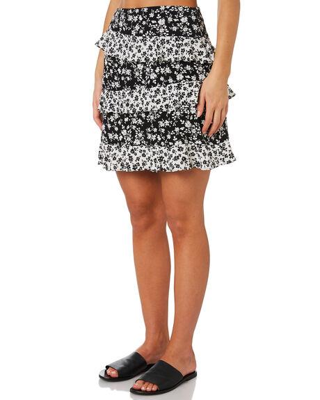 BLACK FLORAL WOMENS CLOTHING MINKPINK SKIRTS - MP1808435BLKFL