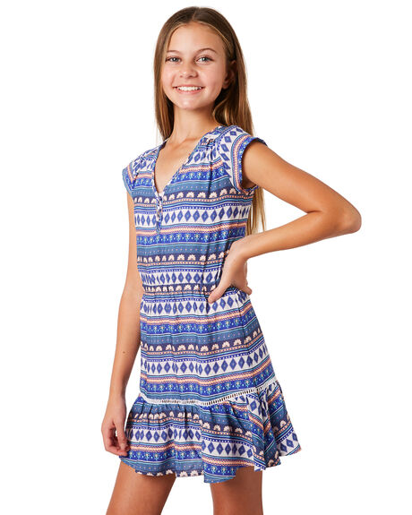 BRIGHT BLUE KIDS GIRLS RIP CURL DRESSES + PLAYSUITS - JDRBC14286