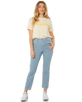 INDIGO STRIPE WOMENS CLOTHING WRANGLER JEANS - W-951268-I56