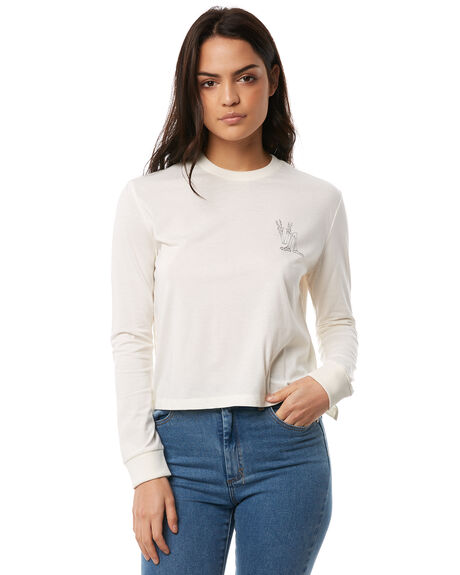 VINTAGE WHITE OUTLET WOMENS RVCA TEES - R284092VWHT
