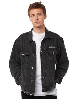 VINTAGE BLACK MENS CLOTHING STUSSY JACKETS - ST085500VBLK