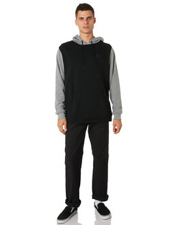 GREY MARLE BLACK MENS CLOTHING VOLCOM JUMPERS - A41318V3BLK