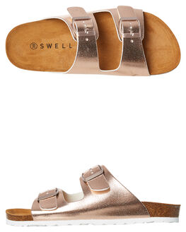 ROSE GOLD WOMENS FOOTWEAR SWELL FASHION SANDALS - 100010LROSGD