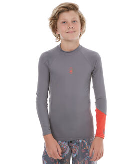 GREY ORANGE SURF RASHVESTS FAR KING BOYS - 2063GRTOR