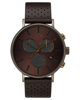 BROWN GOLD MENS ACCESSORIES TIMEX WATCHES - TW2R80100BRNGD