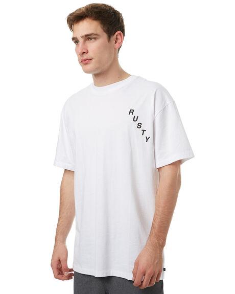 WHITE MENS CLOTHING RUSTY TEES - TTM1921WHT