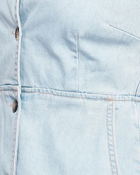 WASHED BLUE WOMENS CLOTHING ELEMENT DRESSES - EL-205866-WSB