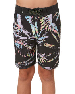 BLACK KIDS BOYS RIP CURL BOARDSHORTS - KBOVF20090