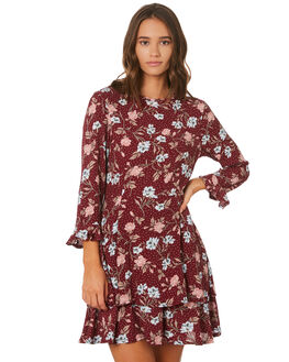 BURGUNDY WOMENS CLOTHING THE HIDDEN WAY DRESSES - H8194441BUNGY