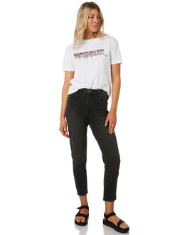 TULSA BLACK WOMENS CLOTHING WRANGLER JEANS - W-951745-NQ8