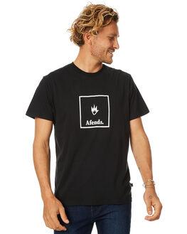 BLACK MENS CLOTHING AFENDS TEES - 01-01-316BLK