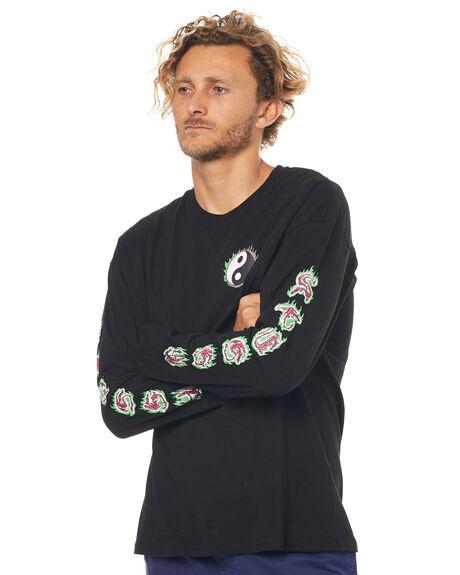 BLACK MENS CLOTHING STUSSY TEES - ST073034BLK