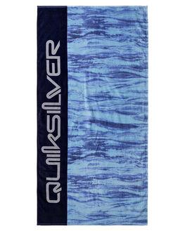 SKY BLUE MENS ACCESSORIES QUIKSILVER TOWELS - EQYAA03602BGC0