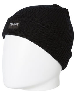 BLACK MENS ACCESSORIES ZANEROBE HEADWEAR - 910-TDKBLK