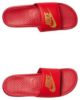 UNIVERSITY RED MENS FOOTWEAR NIKE SLIDES - 343880-602