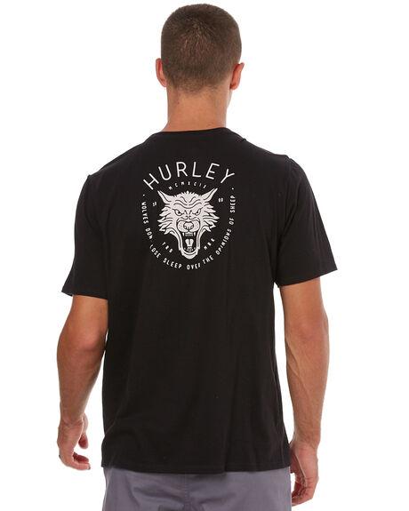 BLACK MENS CLOTHING HURLEY TEES - 892208010