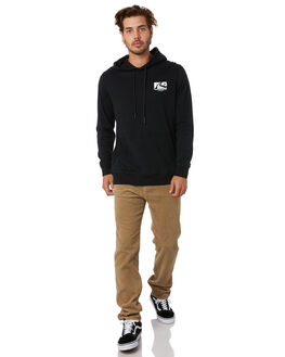 BLACK MENS CLOTHING RUSTY JUMPERS - FTM0903BLK