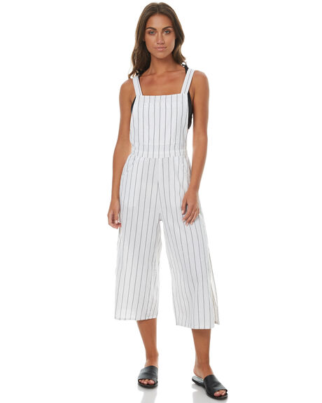 WHITE WOMENS CLOTHING RUSTY PLAYSUITS + OVERALLS - MCL0276WHT