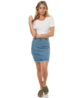 MID BLUE WOMENS CLOTHING MINKPINK SKIRTS - MD1703934MBL