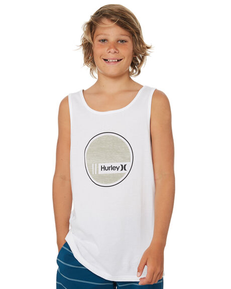 WHITE KIDS BOYS HURLEY TOPS - ABSIIBSICWHT
