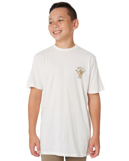 WHITE KIDS BOYS SWELL TOPS - S3193006WHITE
