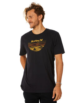 BLACK MENS CLOTHING HURLEY TEES - AO8784010