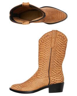 TAN COBRA WOMENS FOOTWEAR ROC BOOTS AUSTRALIA BOOTS - INDIOTANC