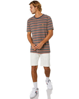 NAVY STRIPE MENS CLOTHING BARNEY COOLS TEES - 119-Q120NVYST