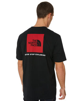 BLACK MENS CLOTHING THE NORTH FACE TEES - NF00CA0FKX9