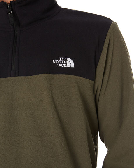 TAUPE GREEN BLACK MENS CLOTHING THE NORTH FACE JUMPERS - NF0A48KRBQW