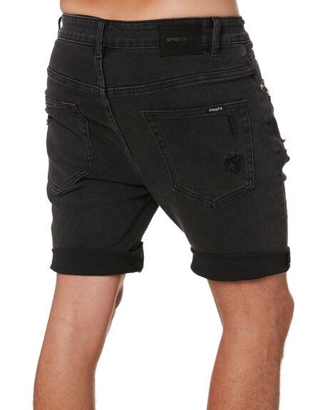 NY BLACK TRASHED MENS CLOTHING INSIGHT SHORTS - 1000088587NYBT
