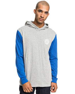 GREY HEATHER MENS CLOTHING DC SHOES TEES - EDYKT03457-KNFH