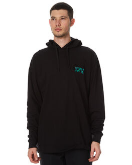 BLACK MENS CLOTHING STUSSY TEES - ST076112BLK