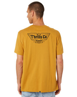 SUNLIGHT YELLOW MENS CLOTHING THRILLS TEES - TR9-118KSUNYW