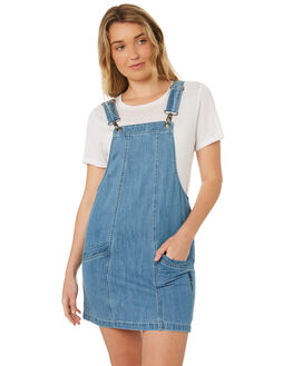 LIGHT WASH WOMENS CLOTHING ELEMENT PLAYSUITS + OVERALLS - 284862LWA
