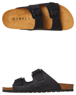BLACK WOMENS FOOTWEAR SWELL FASHION SANDALS - 100010LBLACK