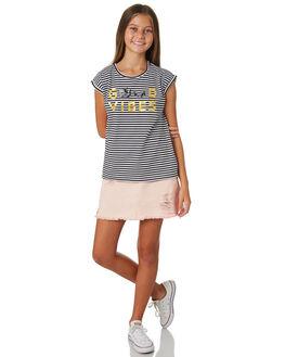 BLACK WHITE KIDS GIRLS EVES SISTER TOPS - 9920075STR