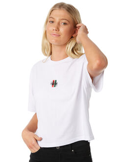 WHITE WOMENS CLOTHING STUSSY TEES - ST186008WHT
