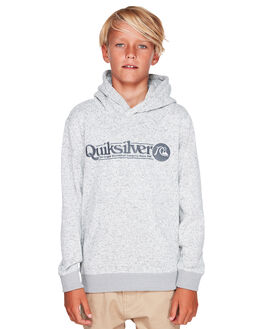 LIGHT GREY HEATHER KIDS BOYS QUIKSILVER JUMPERS + JACKETS - EQBFT03511-SJSH