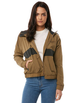 TOBACCO WOMENS CLOTHING RVCA JACKETS - R284431TOBA