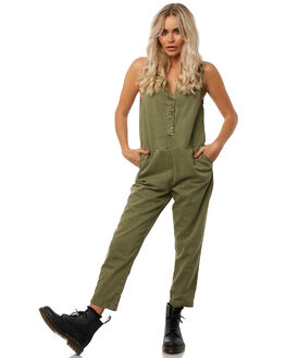 ARMY GREEN WOMENS CLOTHING THRILLS PLAYSUITS + OVERALLS - WTH8-917FGRN