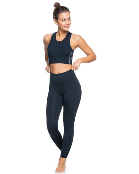 ANTHRACITE WOMENS CLOTHING ROXY ACTIVEWEAR - ERJKT03807-KVJ0