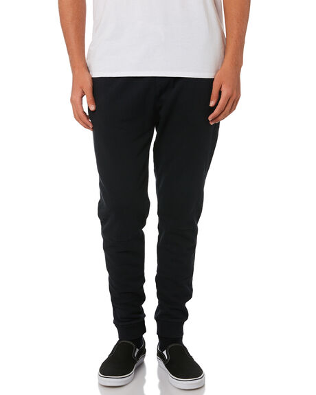 BLACK MENS CLOTHING ACADEMY BRAND PANTS - 19W114BLK