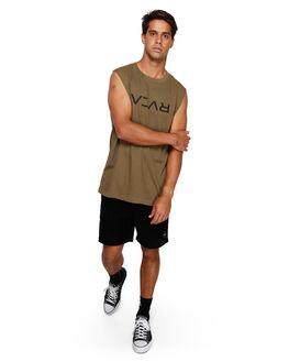 CADET GREEN MENS CLOTHING RVCA SINGLETS - RV-R191010-CDG