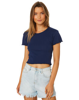 NAVY WOMENS CLOTHING ALL ABOUT EVE TEES - 6401012NAVY