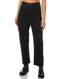 FADED BLACK WOMENS CLOTHING THRILLS JEANS - WTDP-425BFFDBL