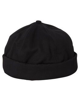 BLACK MENS ACCESSORIES BILLY BONES CLUB HEADWEAR - BBCHAT007BLK